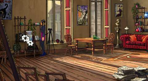 Play the curiously placed stereo set in Nicole's apartment to listen to a pretty catchy song.