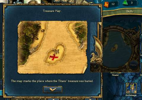 Treasure maps require some side-by-side comparisons with the mini-map.
