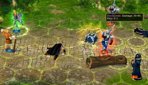 The player can handily see the potential damage and casualties which would be inflicted on an opposing stack.