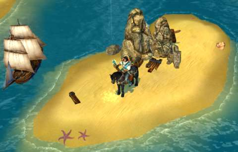 For example, this treasure can only be dug up after finding a treasure map (pictured in an earlier screenshot).