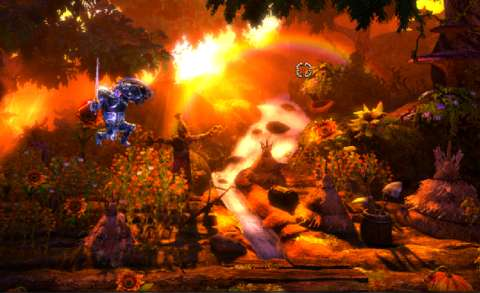 Trine 2 does not waste time in showing off how picturesque it is; this is very much the main menu.