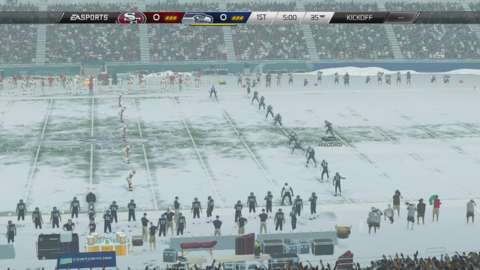 The weather outside is almost as frightful as the Niners' eventual performance in this game.