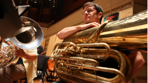 Tubists deserve every break they can get. Do you know how much air it takes to play that thing?