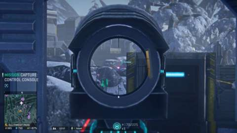You can equip a number of different sights, depending on how close you want to get to the action.