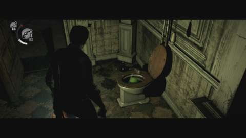 The Evil Within's upgrade system provides a great incentive to explore the environments. Yes, that includes toilets.