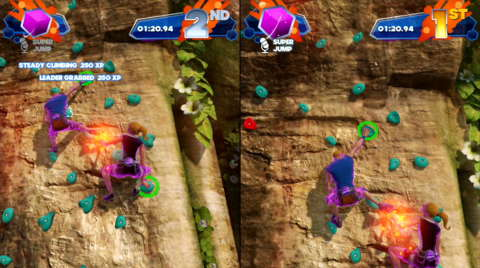 You can pull your opponents off the wall in rock climbing. Competition is rough on the island.