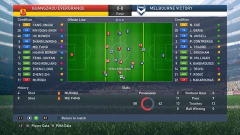 Matches can be simulated in Coach Mode, allowing you to watch the game and make substitutions and tactical changes where necessary.