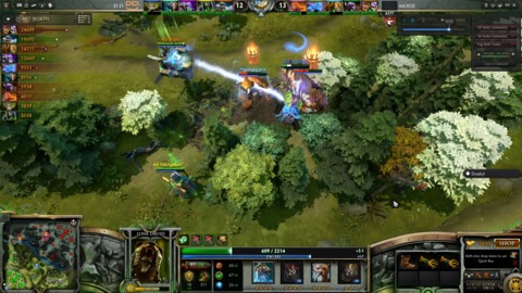Dota 2's client also allows you to watch eSports matches.