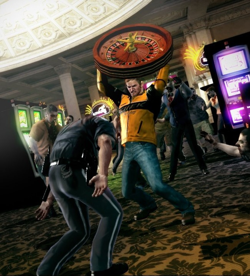 Chuck Greene plays the odds in Dead Rising 2.