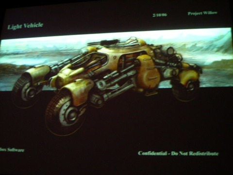 The runner vehicles also looked much the same in both art styles.
