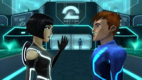 n-Space's Tron: Evolution - Battle Grids on the Wii has a more stylized approach to the film than other versions.
