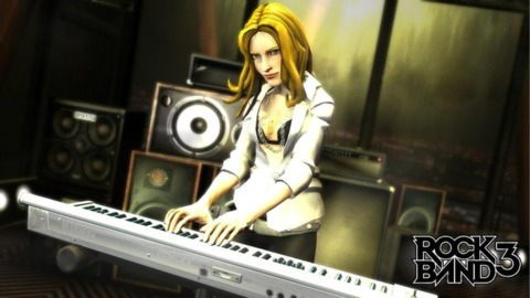 Players can tickle the ivories in Rock Band 3.