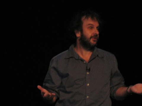 The now-svelte Peter Jackson reveals the new Halo game.