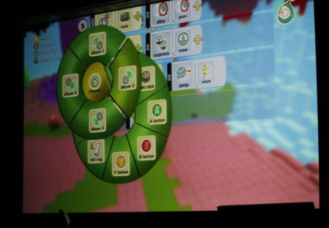 The Kodu editor in action.  Photo credit: CNET.