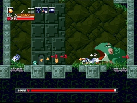 Cave Story's retro look fits right in on WiiWare.