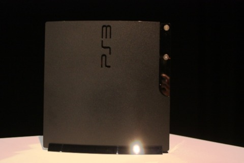 The new PS3 Slim up close.