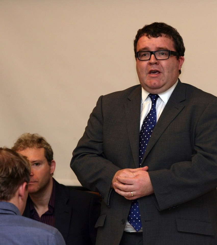 Tom Watson speaking at a recent games industry event.