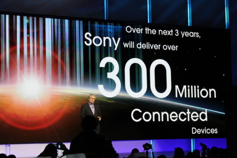 Sony touting its number of connected devices.