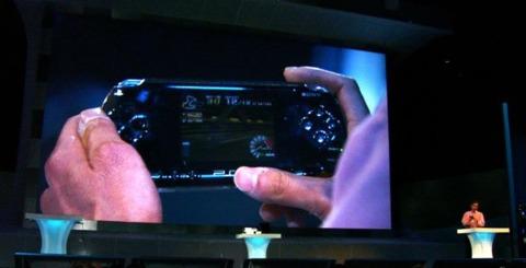 Kaz plays the original Ridge Racer on a PSP