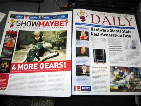 Kojima's mock E3 newsletter versus the real thing.