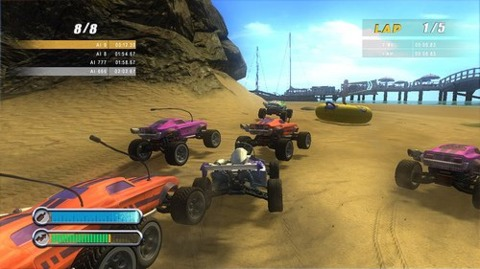 Smash Cars work better on sand than real RC cars.