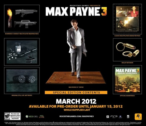 The $100 collector's edition of Max Payne 3.