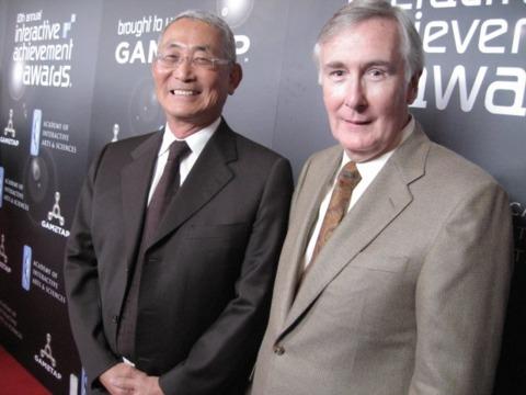 Lifetime Achievement Award recipients Minoru Arakawa and Howard Lincoln.