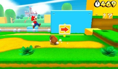Nintendo's upcoming 2D Mario game for the 3DS is