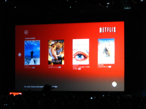 A Kinect interface will be coming to Netflix soon.