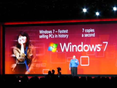 Seven copies of Windows 7 are sold every second!