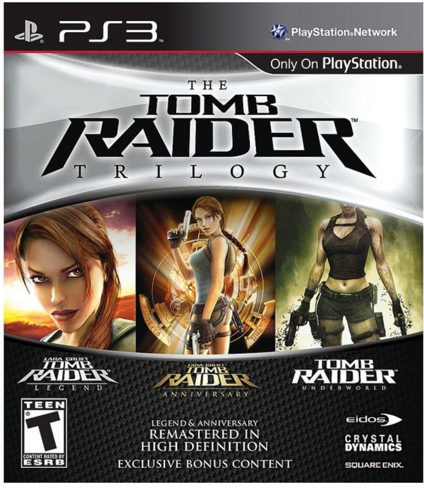 The Lara Croft three-pack hits in March.