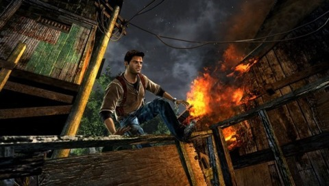 Nathan Drake's first portable outing is proving the most popular Vita game at launch.