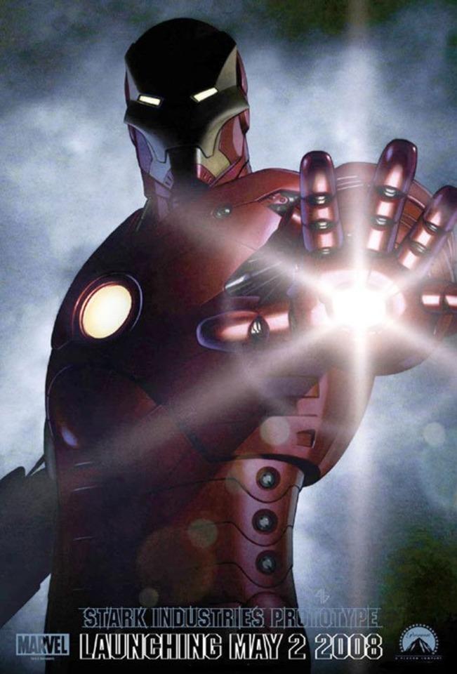The Iron Man teaser poster.