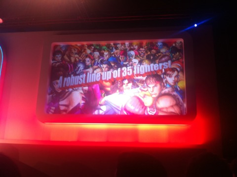 Street Fighter IV 3D will feature 35 fighters.