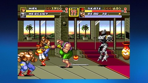 Streets of Rage 2 with graphics smoothing turned on.