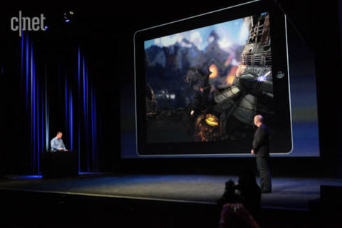 The new iPad and Infinity Blade: Dungeons. Image credit: CNET.
