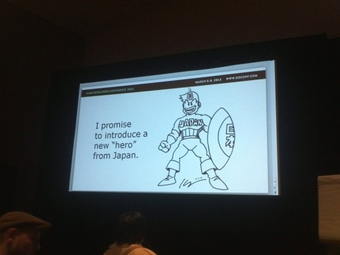 A slide from Inafune's GDC talk, in which he teased that he's working on a PlayStation Vita game.