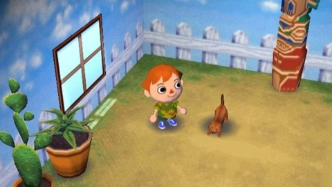 The patent doesn't mention specific titles, but the treatment is reminiscent of Animal Crossing.