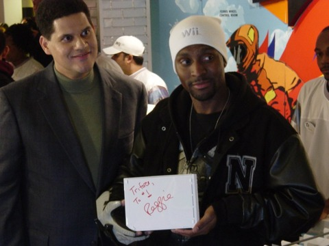 Johnson and his personalized Wii.