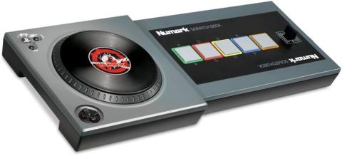Scratch's Numark-made turntable controller.