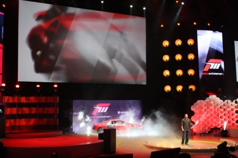 Dan Greenwalt take to the stage to introduce Forza 3.