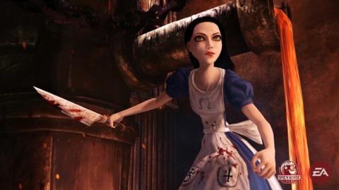 Alice is back, wielding a knife.