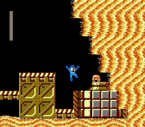 Mega Man can't abide by bullet-spewing turtles..