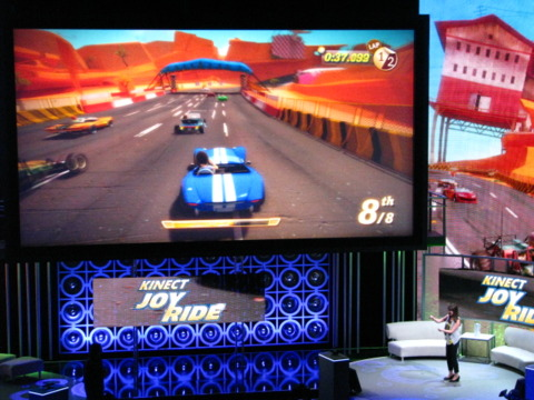 Joy Ride returns as a Kinect title after being shown as a standard Xbox game last year.