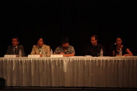 (Left to Right:) Hashimoto, Tanaka, and Komoto