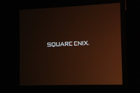 Unfortunately we've yet to see any more footage of FFXIV. The Square Enix logo sits motionless on the projection screen.