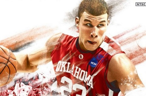 Griffin (pictured on the cover of NCAA Basketball 10) wouldn't be used to selling Rage on gaming sites.