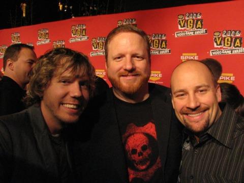 Team Gears of War, including Cliffy B (left), took home four awards.