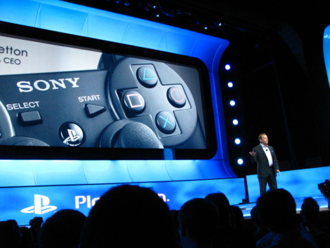 Sony's Jack Tretton takes the stage.