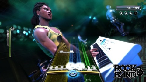 Rock Band 3 will be tickling the ivories.